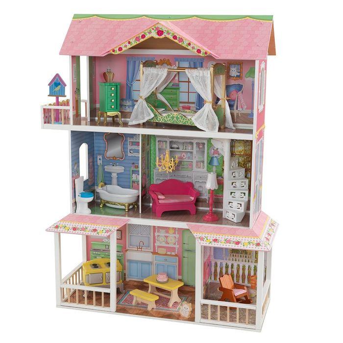цена на Деревянный дом для Барби Карамельная Саванна (Sweet Savannah) с мебелью