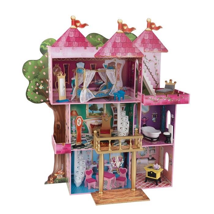 Дом для кукол KidKraft Книга Сказок, с мебелью аксессуары для кукол kidkraft кукольный стульчик для кормления