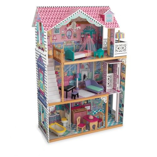 цена на Трехэтажный дом для кукол Барби Аннабель (Annabelle) с мебелью 17 элементов в подарочной упаковке