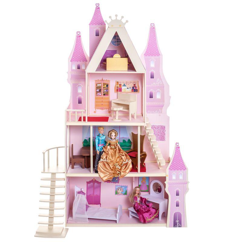 Дом для кукол PAREMO Розовый сапфир, деревянный, с мебелью и текстилем игра paremo кукольный дворец розовый сапфир pd316 05