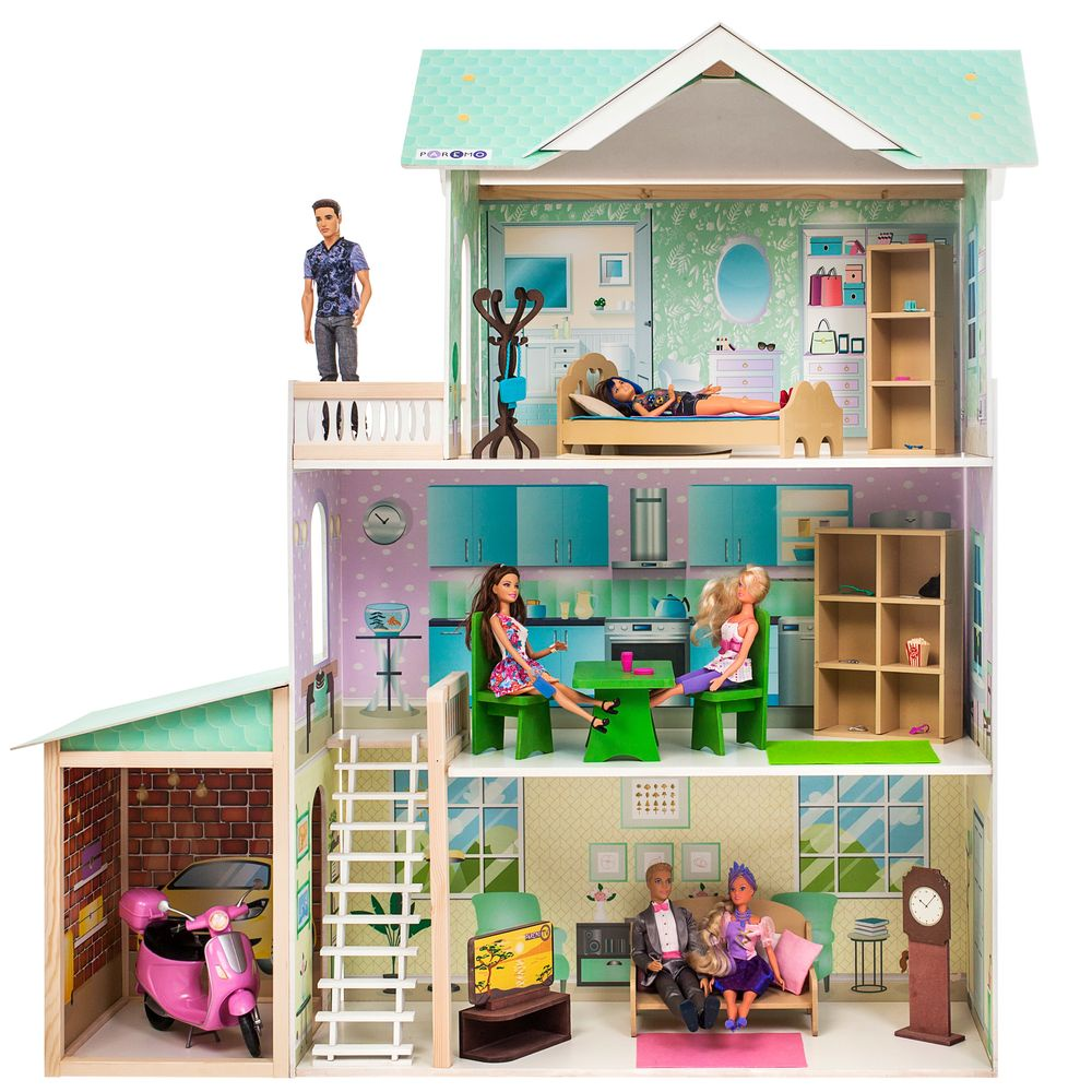 Дом для кукол PAREMO Жозефина Гранд кукольный домик вдохновение для кукол до 30 см 16 предметов мебели 2 лестницы