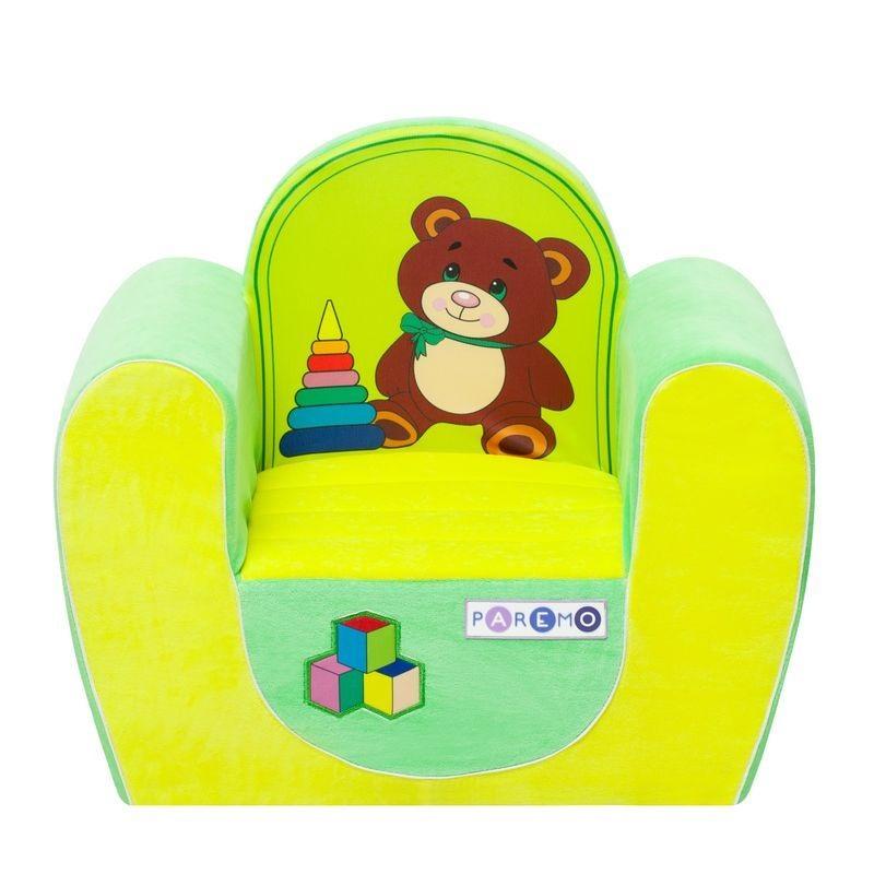 """Игровое кресло PAREMO """"Медвежонок"""", цвет: желтый/салатовый"""