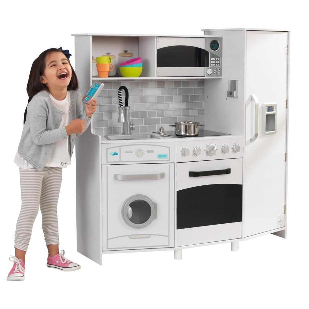 Игровая кухня KidKraft Большой Интерактив, белая кухня детская kidkraft классик