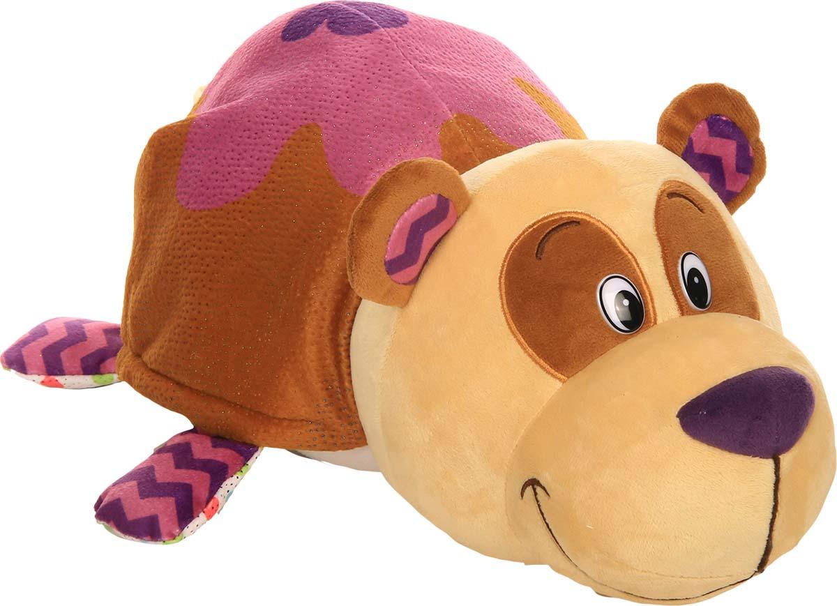 """Мягкая игрушка 1TOY """"Вывернушка Ням-Ням 2-в-1. Панда - Кошечка"""", ароматизированная, 40 см"""