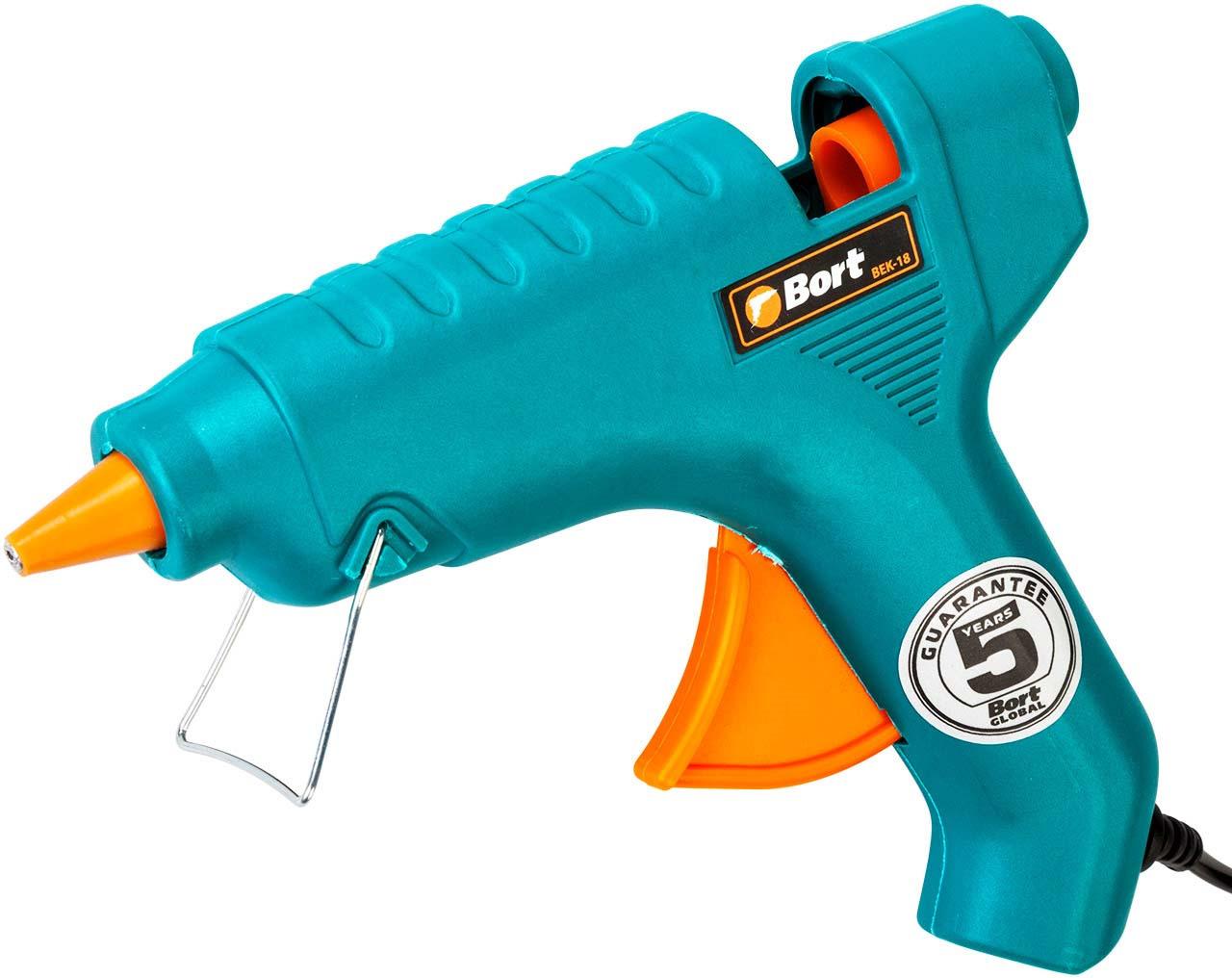 Пистолет клеевой Bort BEK-18, 91275967 цена и фото