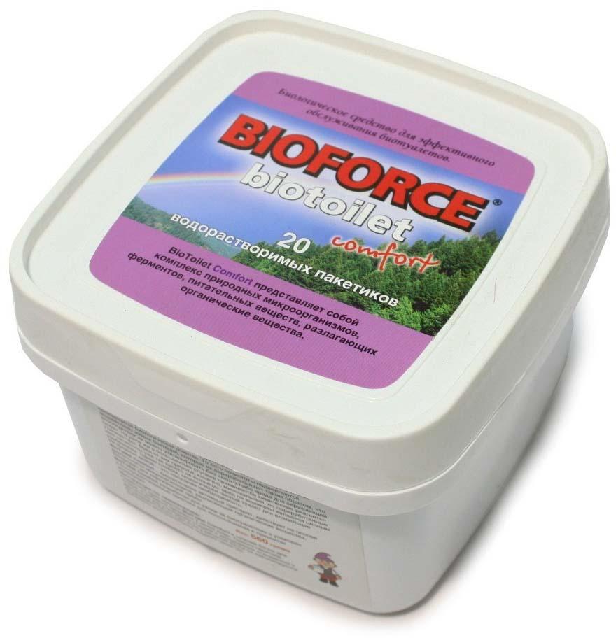 Средство для септиков и биотуалетов Bioforce BioToilet Comfort, 20 пакетиков х 28 г цены