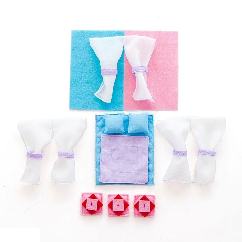 Набор текстиля для кукольных домиков PAREMO Анастасия набор чехлов для дивана и кресел мартекс с карманами 3 предмета 05 0751 3