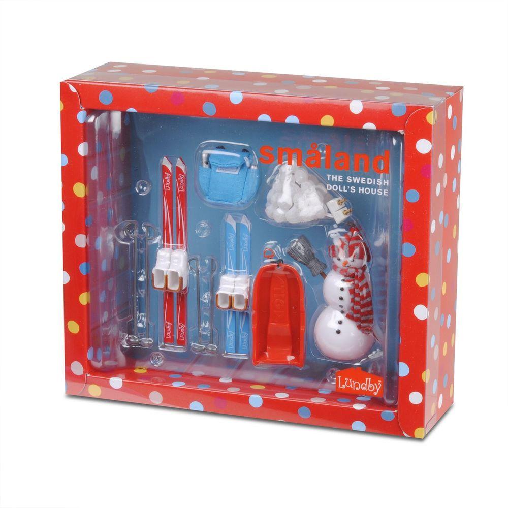 Фото - Аксессуары для домика Смоланд Lundby Зимний набор для отдыха на воздухе аксессуары для домика lundby смоланд игрушки для детской