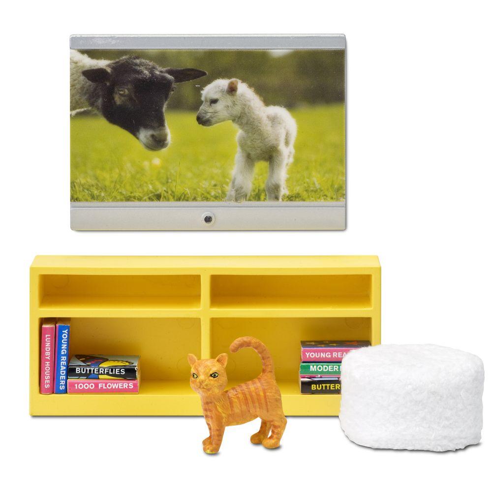 Фото - Мебель для домика Смоланд Lundby Домашний кинотеатр аксессуары для домика lundby смоланд игрушки для детской