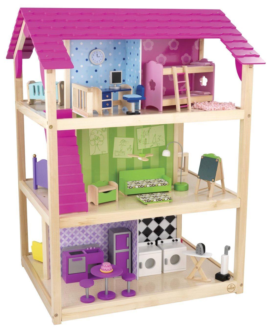Кукольный домик Самый роскошный (So Chic) с мебелью 45 элементов, на колесиках кукольный домик вдохновение для кукол до 30 см 16 предметов мебели 2 лестницы