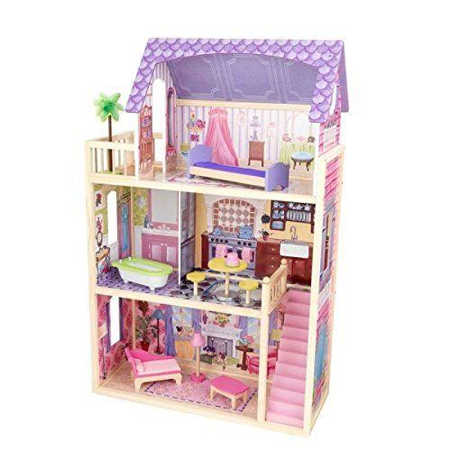 Дом для кукол KidKraft Кайла, деревянный, с мебелью кукольный домик kidkraft деревянный дом для барби карамельная саванна sweet savannah с мебелью в подарочной упаковке
