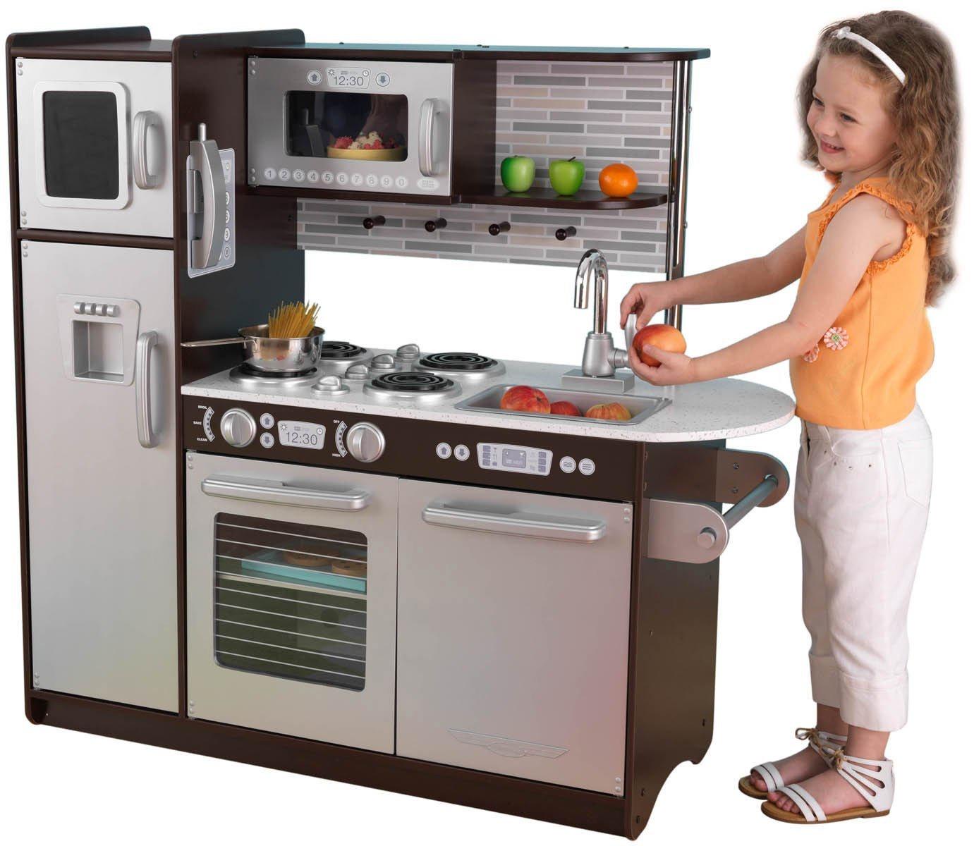 Фото - Деревянная кухня для мальчиков и девочек Эспрессо (Uptown Espresso Kitchen) детская кухня kidkraft деревянная кухня для мальчиков и девочек аптаун uptown white kitchen [53364 ke]