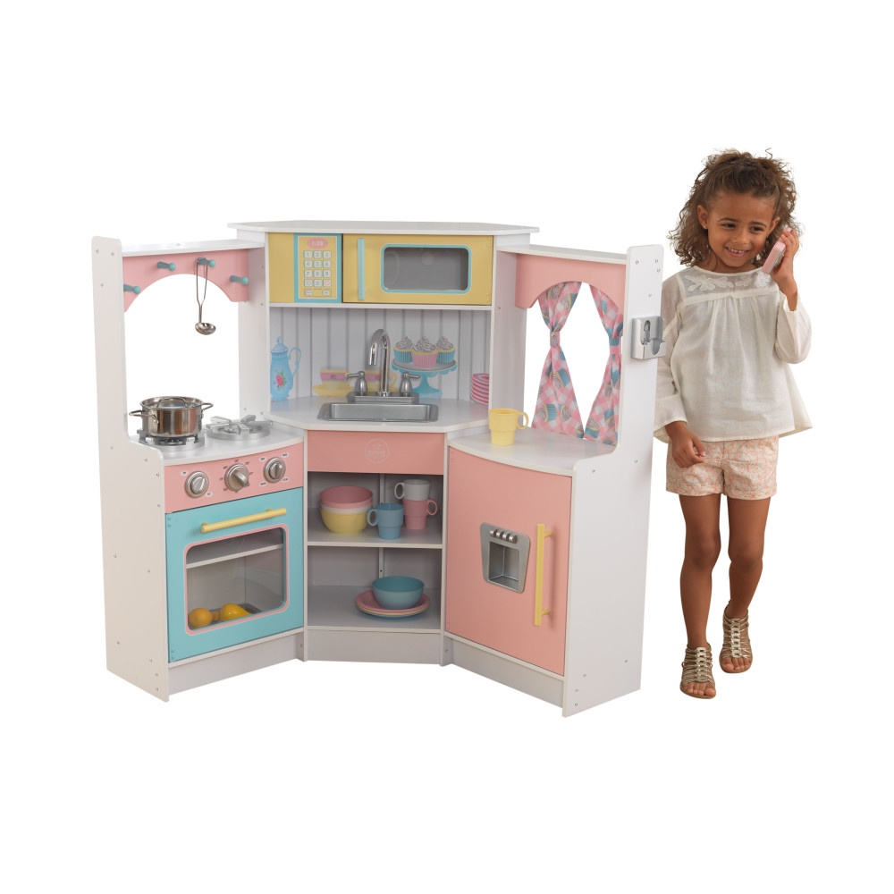 Кухня детская Делюкс, игровая, угловая кухня детская kidkraft классик