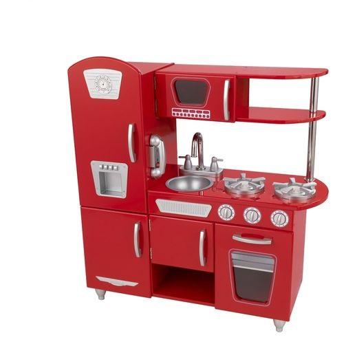 Кухня детская Винтаж, деревянная, цвет: красный кухня детская kidkraft классик