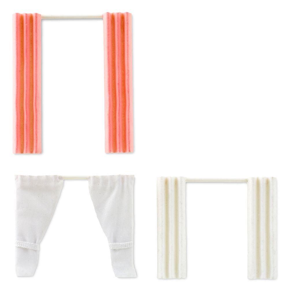Набор штор для домика, игровой, три вида прямые