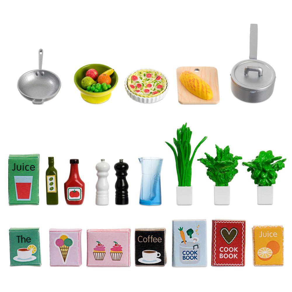 Набор кухонных аксессуаров, для домика, игровой, 21 шт.