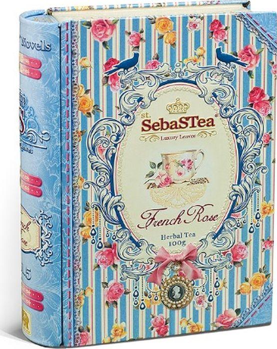 Чай листовой травяной красный SebaSTea French Rose, 100 г teacher карельский чай цветочно травяной купаж 500 г