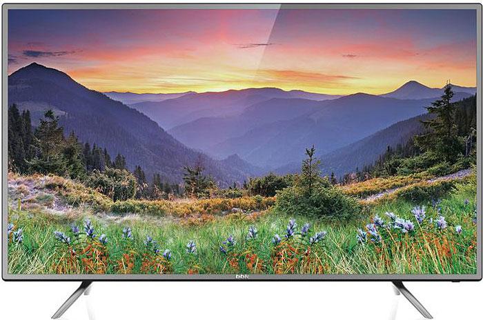 Телевизор BBK 55LEX-6042/UTS2C 55, черный, серый телевизор 55 bbk 55lex 6039 uts2c 4k uhd 3840x2160 smart tv черный