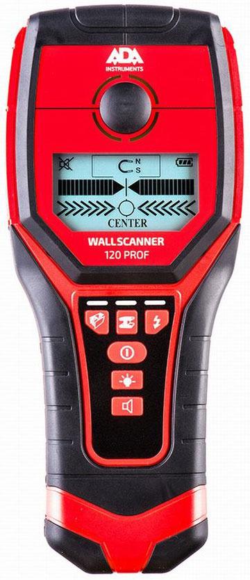 Детектор проводки ADA Wall Scanner 120 PROF детектор проводки ada wall scanner 80 проводки a00466