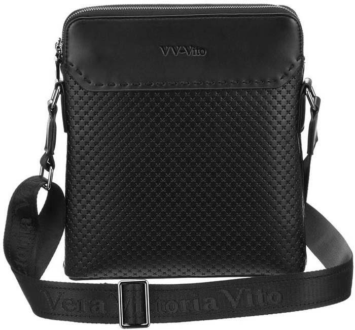 Сумка кросс-боди мужская Vera Victoria Vito, цвет: черный. 35-802-1 цена