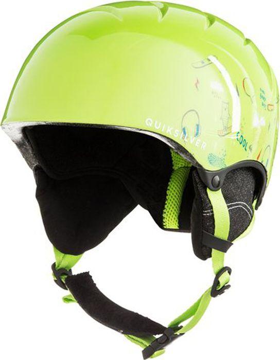Шлем для горных лыж и сноуборда QUILSILVER GAME PACK B HLMT GJZ3, цвет: зеленый. Размер 52 маска для сноуборда quiksilver qs rc black