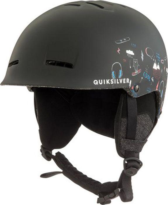 Шлем для горных лыж и сноуборда QUILSILVER EMPIRE B HLMT KVJ6, цвет: черный. Размер 52