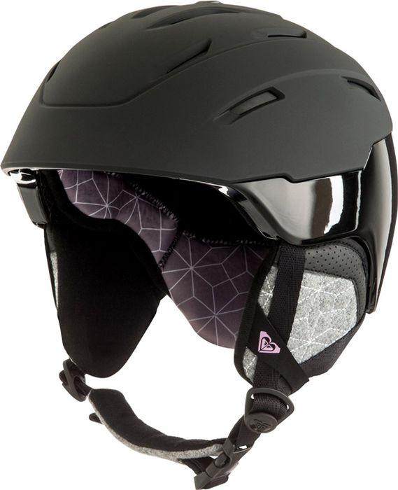 Шлем для горных лыж и сноуборда Roxy IVORY J HLMT WBS0, цвет: белый, черный. Размер M/L roxy halter onepiece j pss0