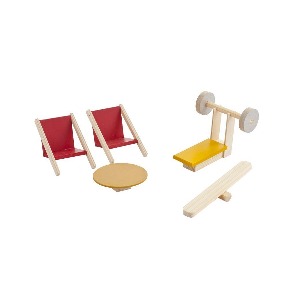 Набор мебели для мини-кукол PAREMO Спортивный уголок кукольная мебель paremo гостиная
