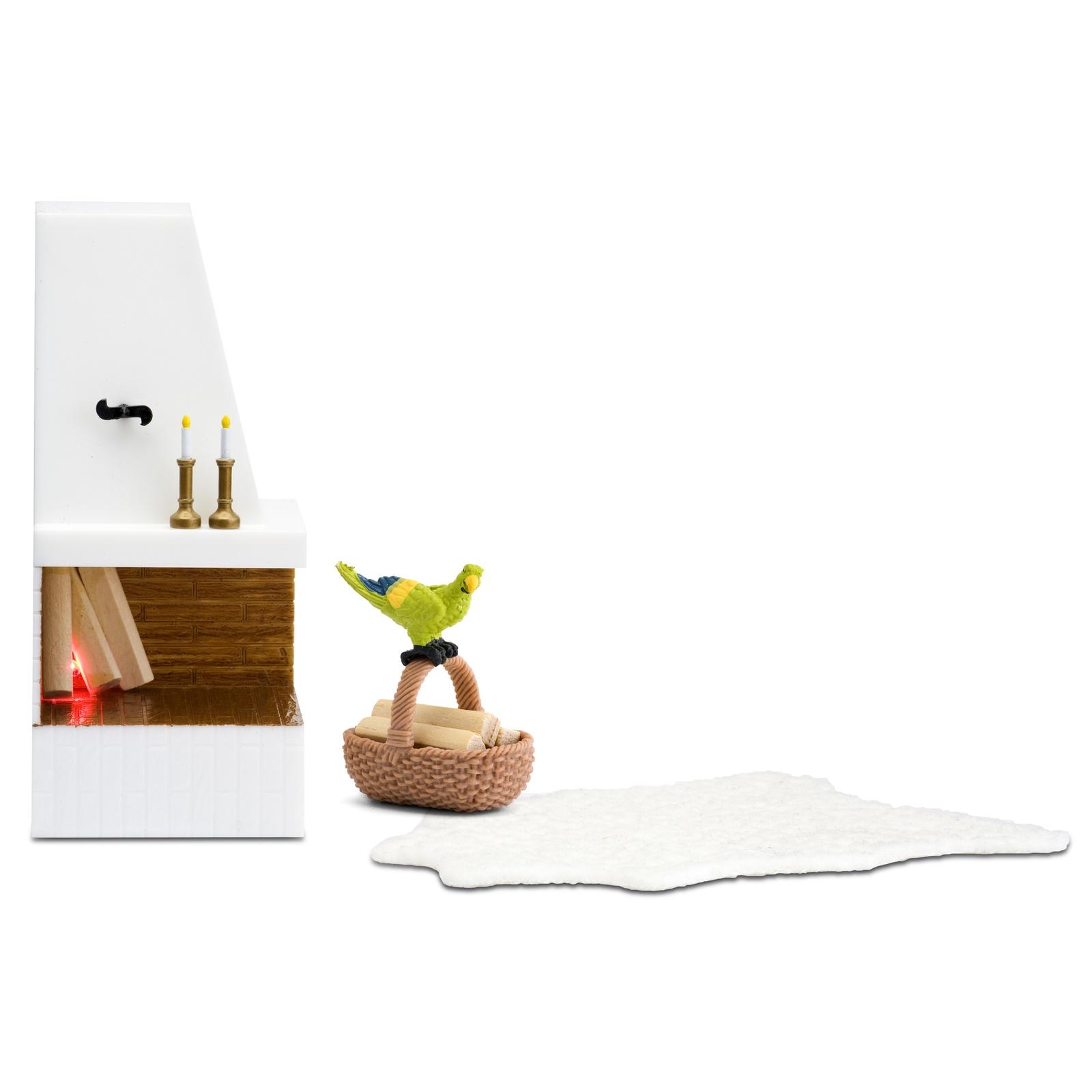 Фото - Мебель для кукол Lundby Смоланд, Камин с декором аксессуары для домика lundby смоланд батут с машинкой