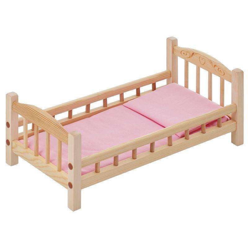 кроватки для кукол Мебель для кукол PAREMO, кроватка, розовый текстиль