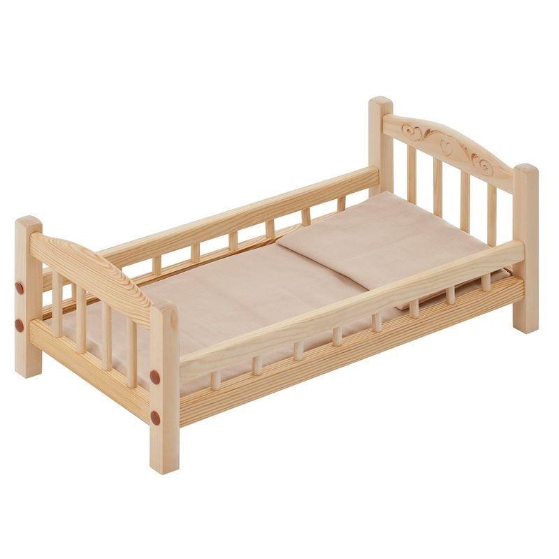 кроватки для кукол Мебель для кукол PAREMO, кроватка, бежевый текстиль