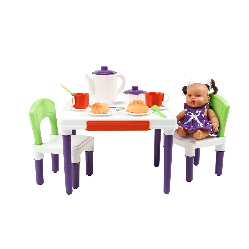 Мебель для кукол Огонёк Малыш, столик и стульчик аксессуары для кукол kidkraft кукольный стульчик для кормления