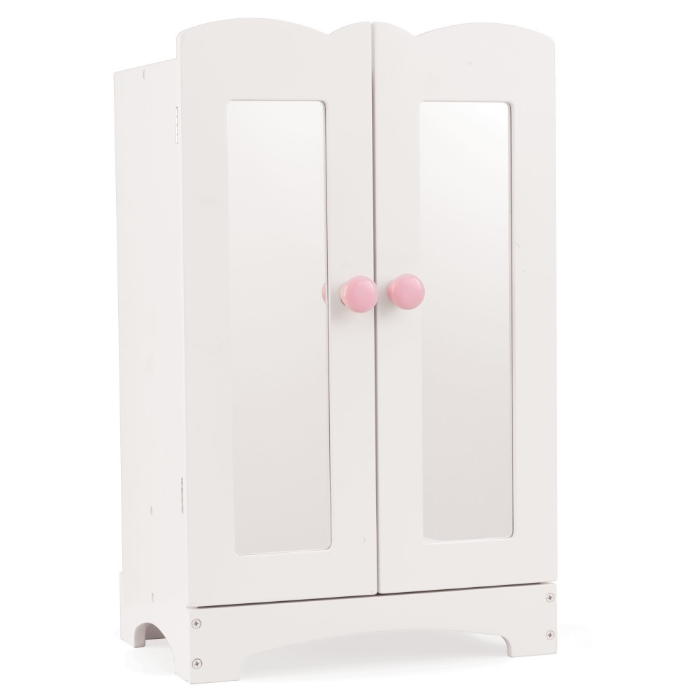 все цены на Мебель для кукол KidKraft, кукольный шкаф для одежды, цвет:белый онлайн