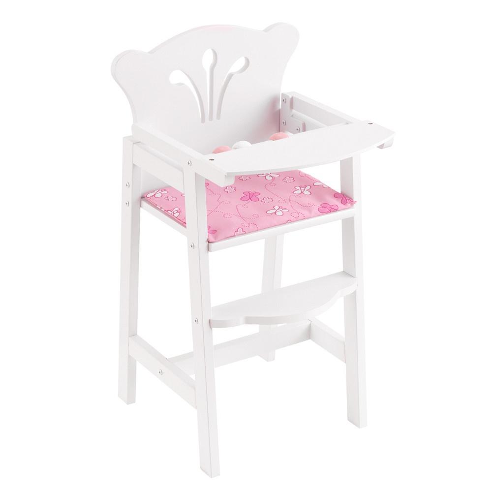 Мебель для кукол KidKraft, кукольный стульчик для кормления, цвет:белый цена