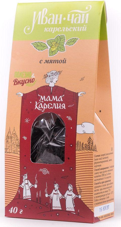 Чай листовой Мама Карелия Иван-чай Карельский, с мятой перечной, 50 г teacher карельский чай цветочно травяной купаж 500 г