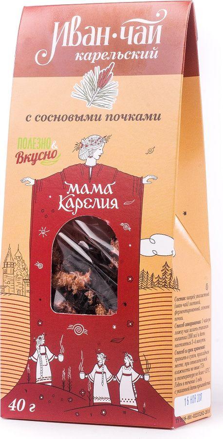 Чай листовой Мама Карелия Иван-чай Карельский, с сосновой почкой, 50 г caffenick иван чай травяной листовой чай 500 г
