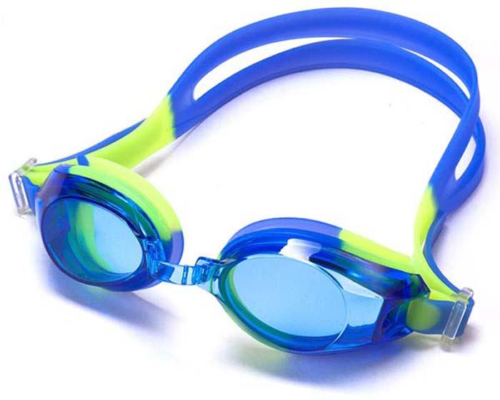 цена на Очки для плавания Larsen DR-G103, детские, цвет: синий, желтый