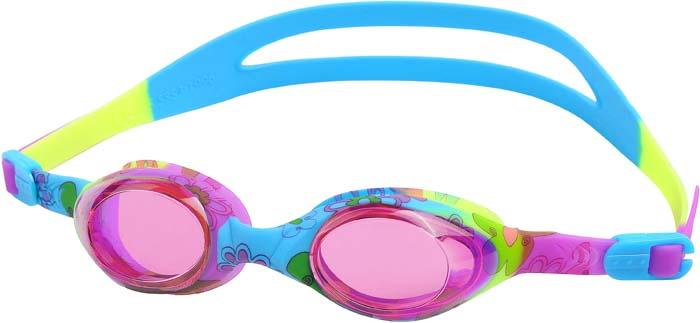 Очки для плавания Larsen Dynamics Flower, детские, цвет: разноцветный