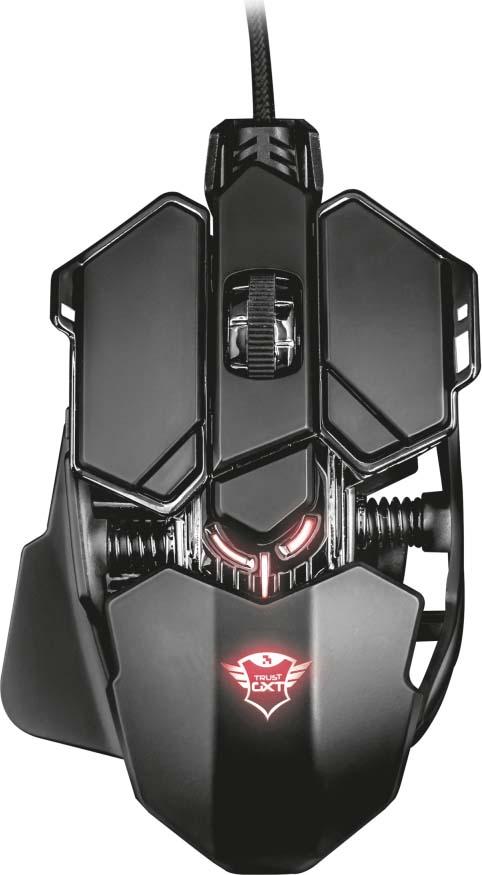 лучшая цена Игровая мышь Trust GXT 138 X-Ray, цвет: черный, серый