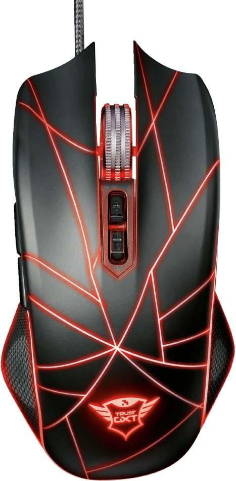 Игровая мышь Trust GXT 160 Ture, проводная, цвет: черный, серый