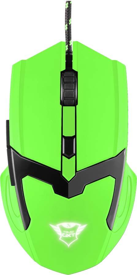 Игровая мышь Trust GXT 101-SG Spectra, цвет: зеленый