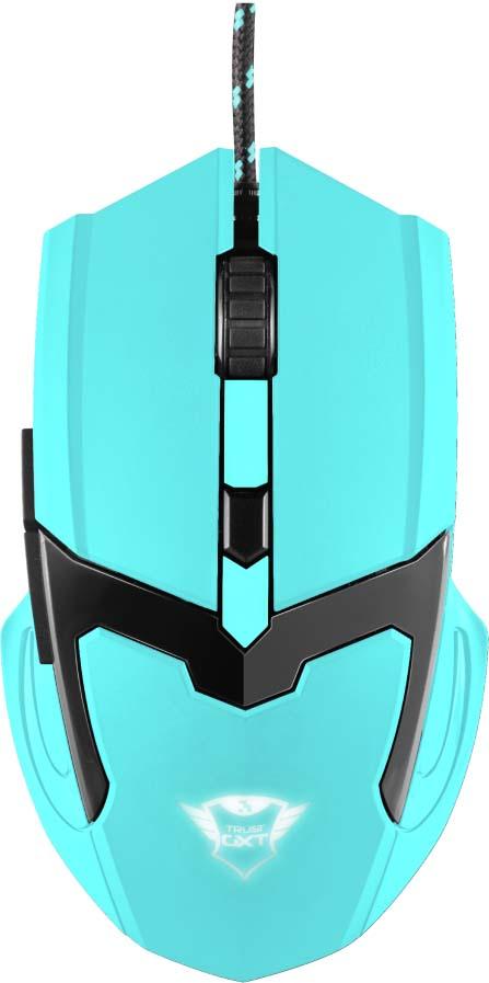 Игровая мышь Trust GXT 101-SB Spectra, цвет: синий комплект игровая мышь гарнитура коврик для мыши trust gxt790 sb spectra цвет черный синий
