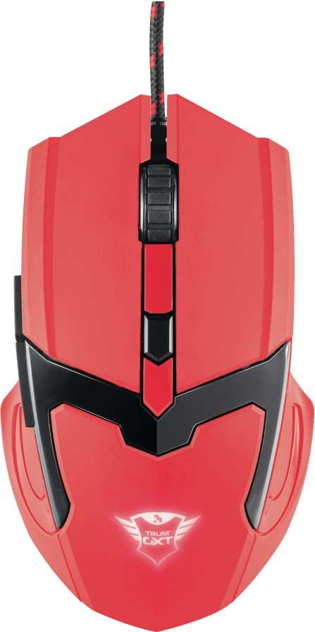 лучшая цена Игровая мышь Trust GXT 101-SR Spectra, цвет: красный