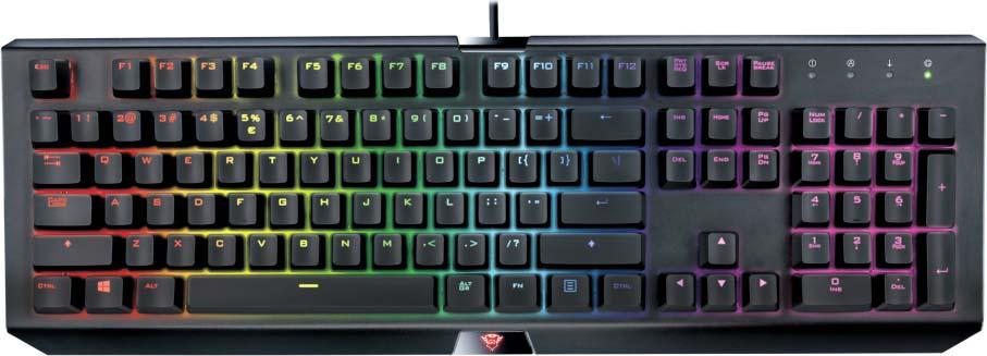 Клавиатура Trust GXT 890 Cada, механическая, цвет: черный, серый