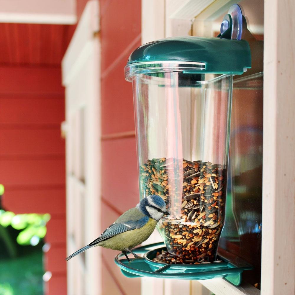 Кормушка Хит-декор для птиц, с присоской, 06257, 14 х 11 х 24 см кормушка для рыб rp7012 круглая с присоской