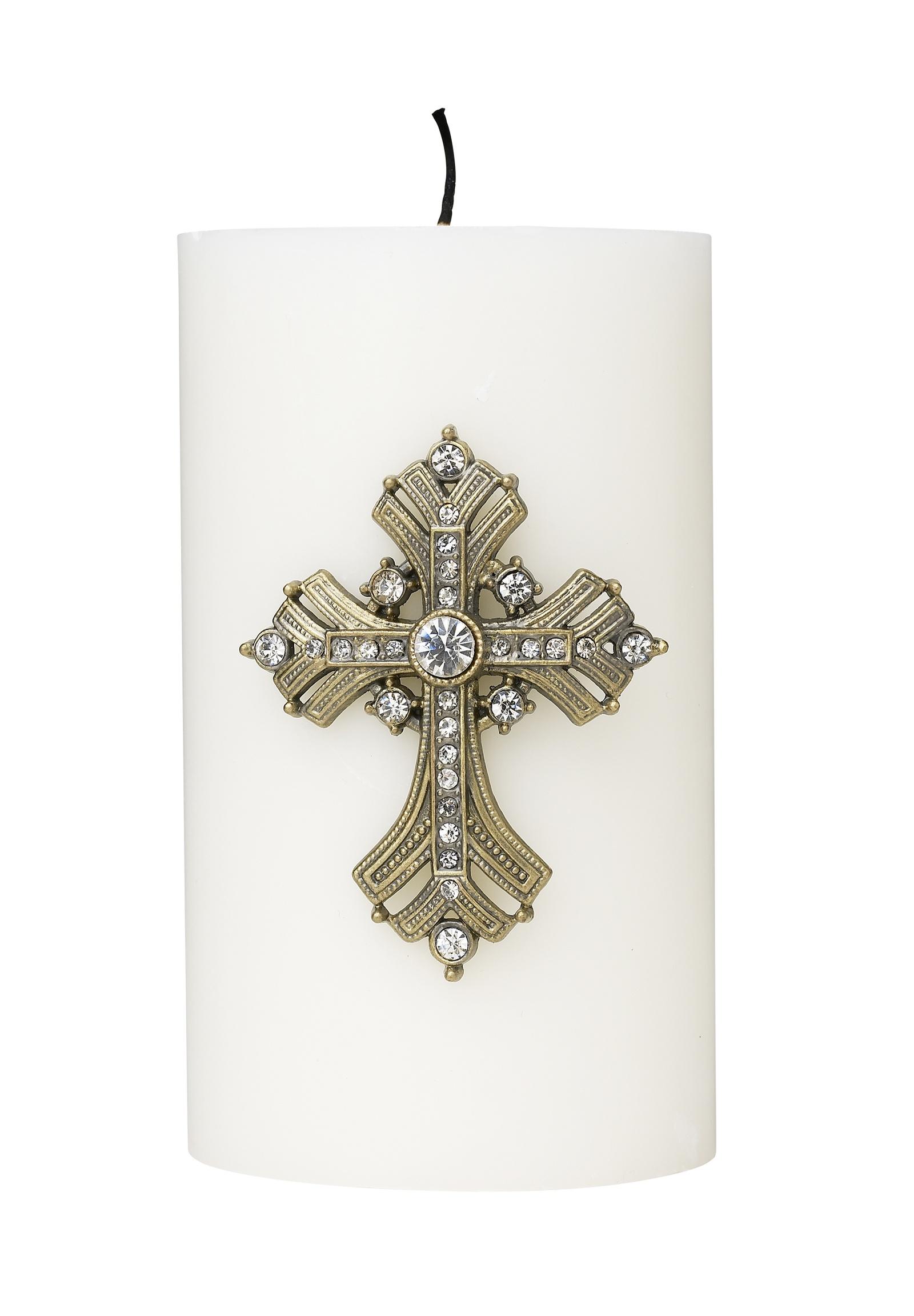 Украшение для свечи Molly Marais Crystals, Размер: Высота 7,6, ширина 0,5, длина 5,4., Цвет: Золотой, DE520026
