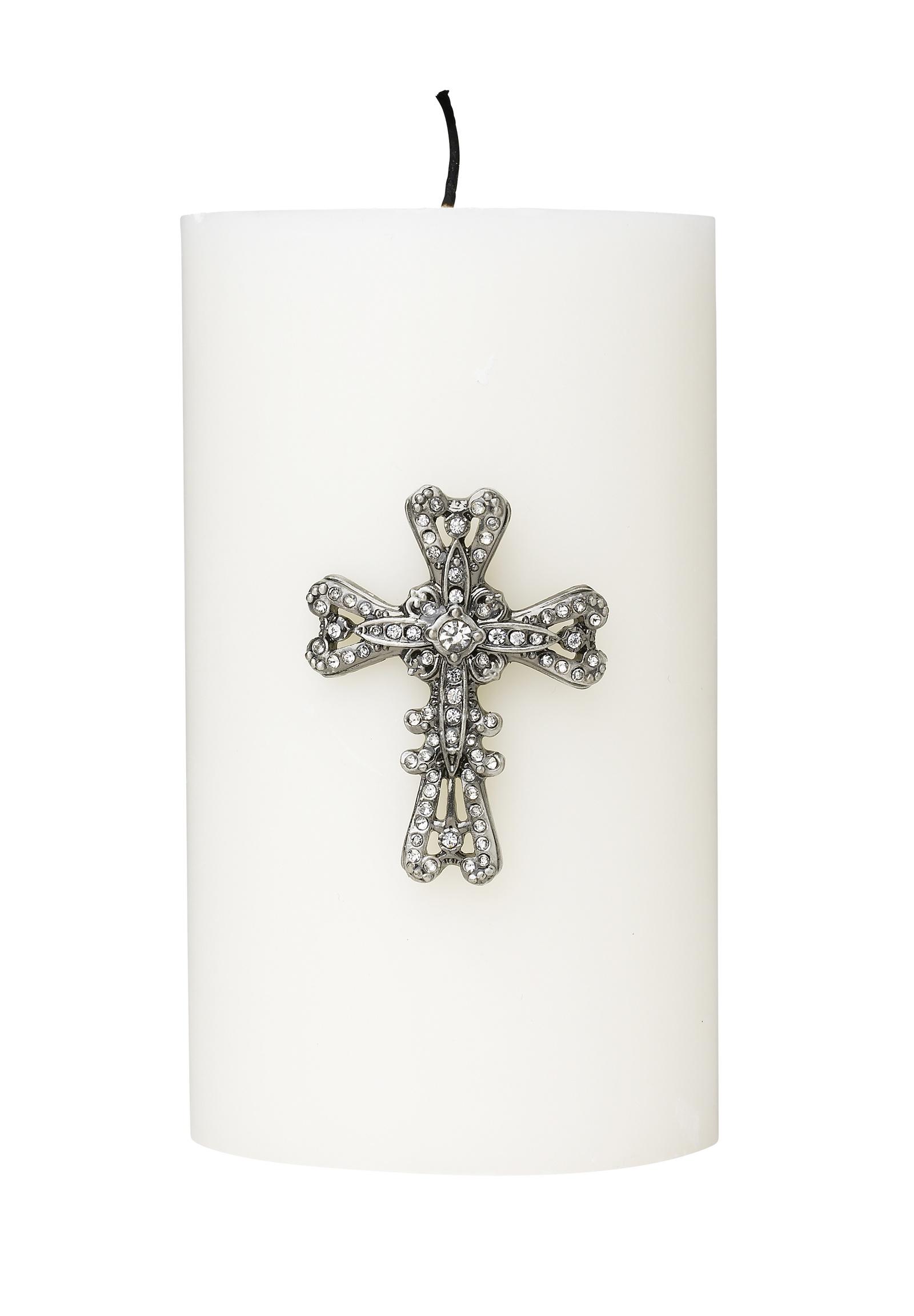 Украшение для свечи Molly Marais Crystals, Размер: Высота 5, ширина 2, длина 3,8., Цвет: серебряный, DE520028 комплект термобелья мужской серебряный пингвин лонгслив кальсоны цвет черный с 6051 к размер 48