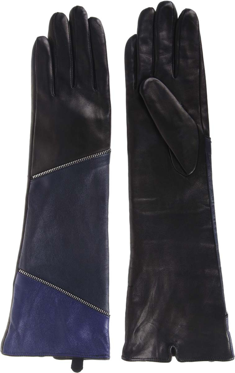 Перчатки женские Moltini, цвет: черный. 260B-111714. Размер 6,5260B-111714