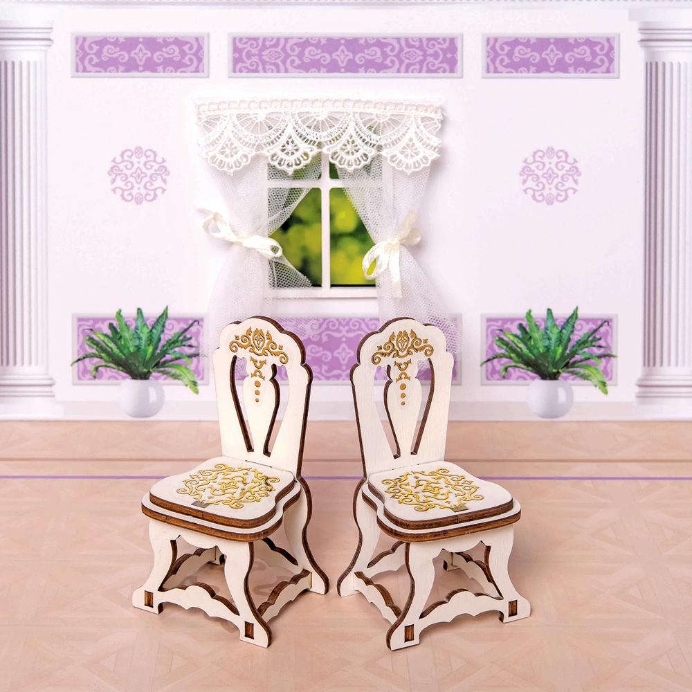 стульчики для кормления Мебель для кукол ЯиГрушка Два стула, 59791