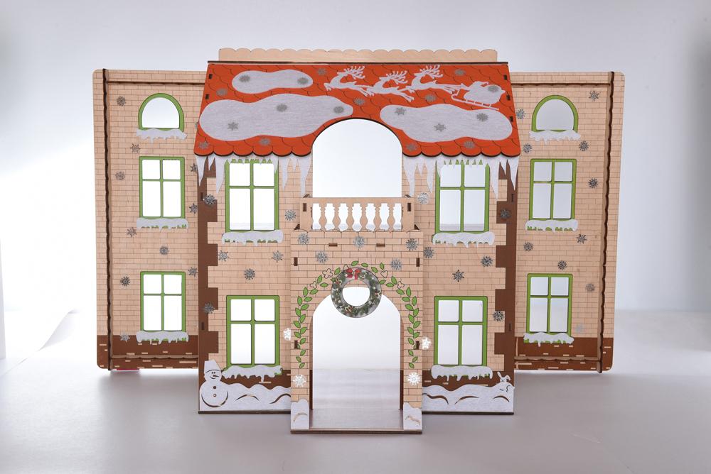 Аксессуар для кукол ЯиГрушка Комплект новогодних украшений с наклейками, 59822 яигрушка набор обоев и ламината одним прекрасным утром мятный леденец для дома с черепичной крышей